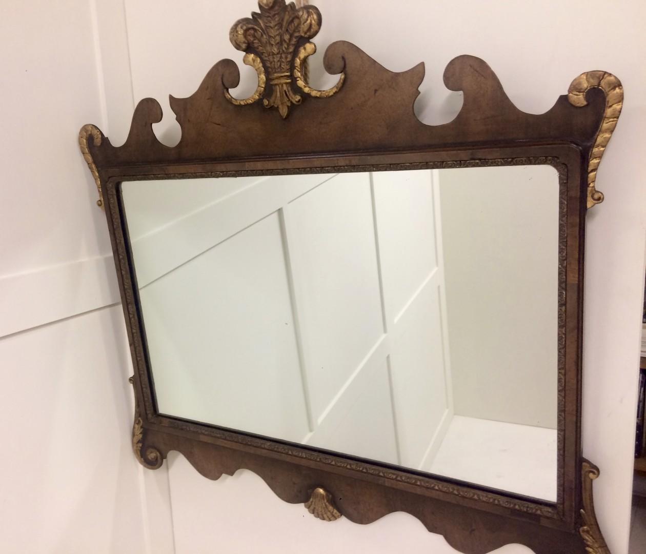 Antique Walnut Mirror C 1880 The Attic Room
