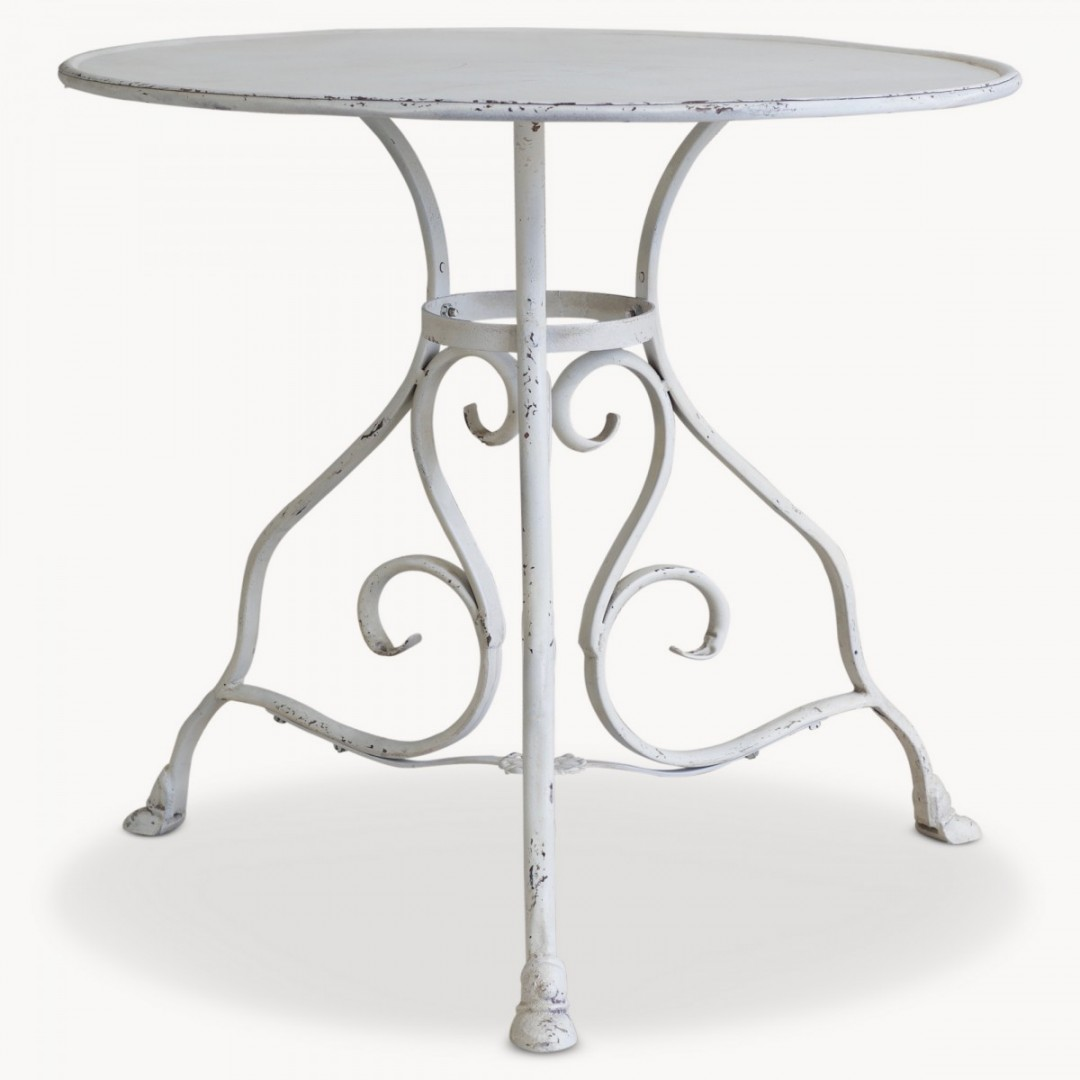 White Metal Conservatory Table The Attic Room